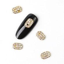 10Pcs New 2019 Glitter Pearl with Rhinestones Alloy Metal 3D Nail Art Decoration Charms Studs Nails 3d Jewelry
