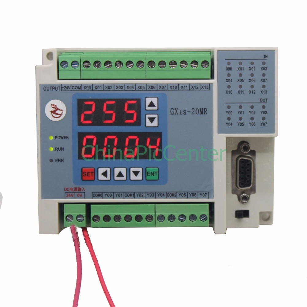 FX1S GX1S 20MR 12in 8 relays out RTC (real time clock) controller 2AD 2DA high-brightness LED digital tube display ds1302 rtc real time clock module i2c signal with calender