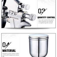 PROSTORMER Professional Spray Gun Pneumatic 400ML Airbrush Sprayer Alloy Painting Atomizer Tool With Hopper For Painting Cars