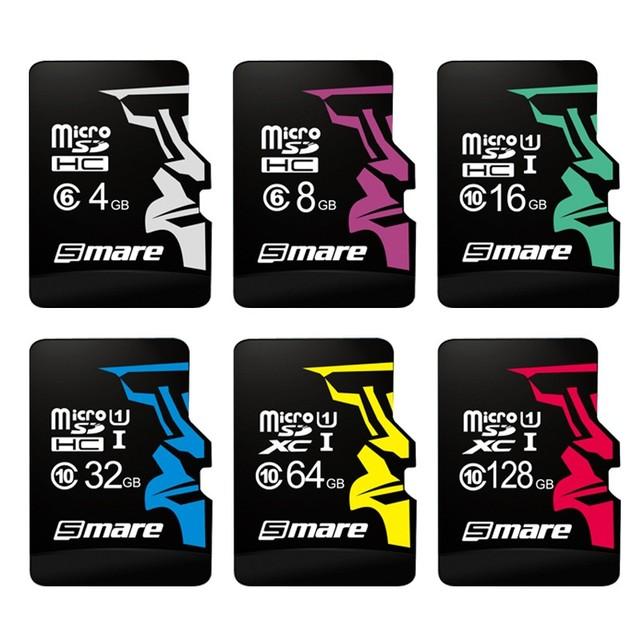 SMARE Micro SD Card 32GB Class 10 16GB/64GB/128GB Class10 UHS-1 4GB/8GB Class 6 Memory Card Flash Memory Microsd for Smartphone