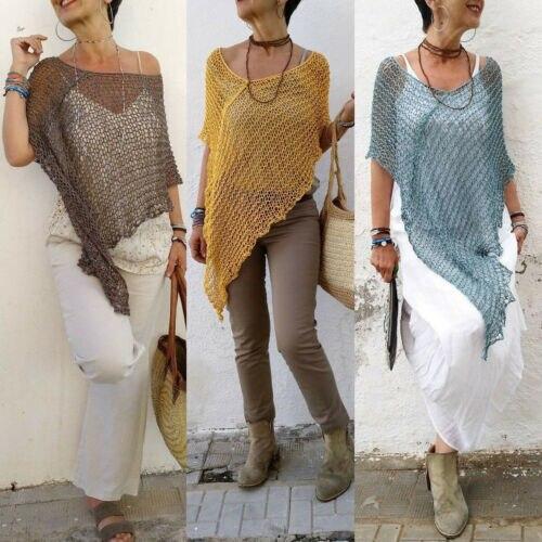 Женская трикотажная блузка, повседневная, летняя, с неровным покрытием