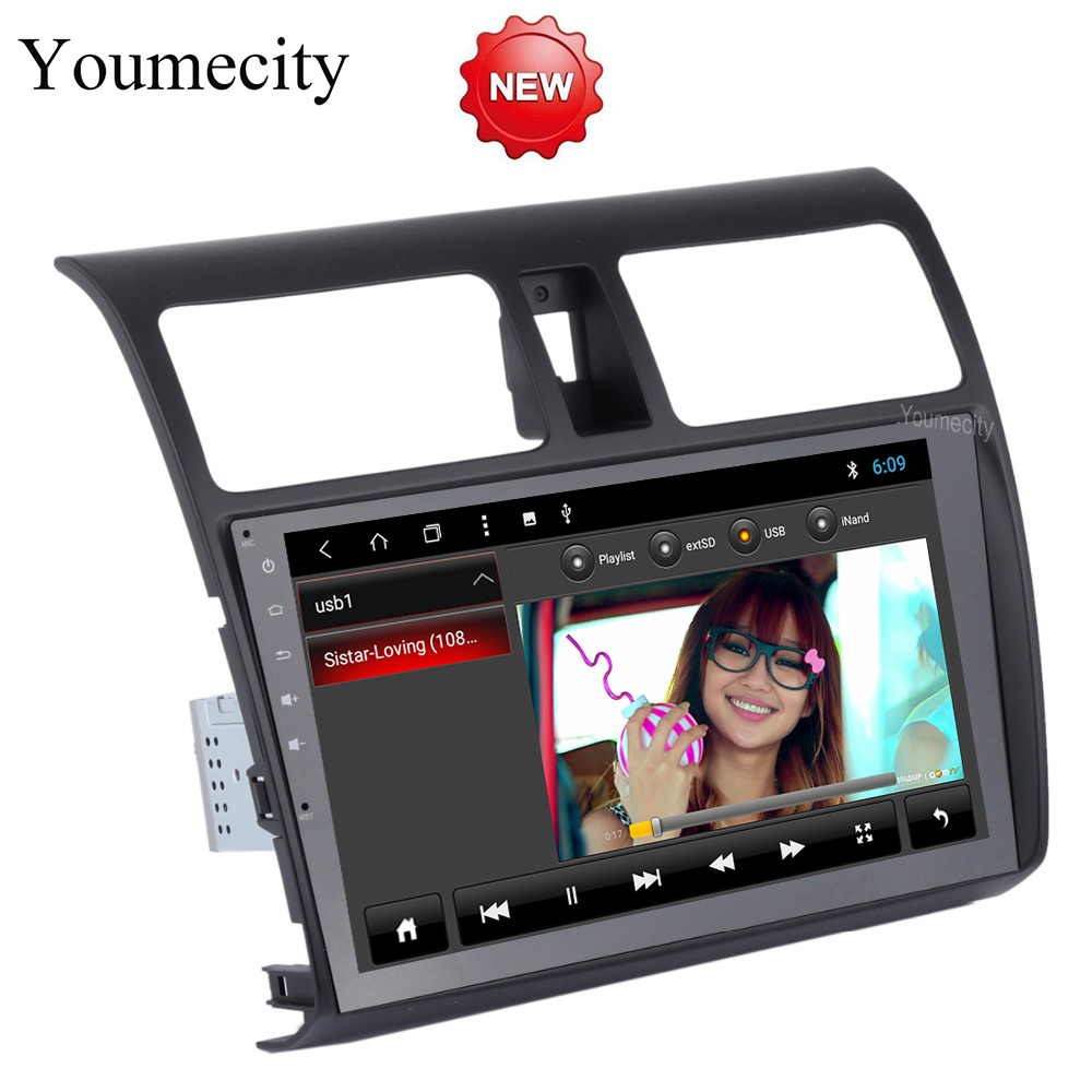 Youmecity Android 8.1 Car DVD for Suzuki SWIFT 2008-2015 Years 3G/4G GPS radio video Multimedia player Capacitive IPS Screen
