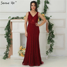 SERENE HILL Sexy Backless Mermaid Evening Dresses 2019