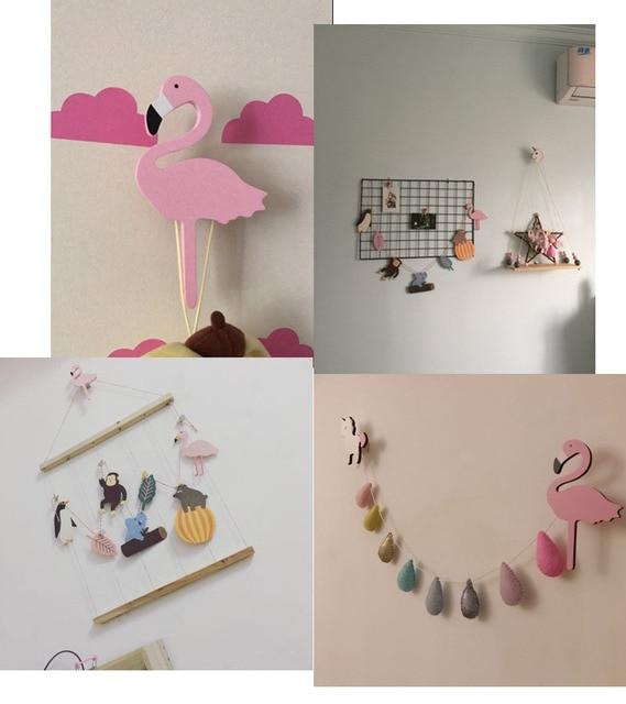 US $2.99 |Ins Holz Kinderzimmer Kleidung Haken Wand Dekorative Aufkleber  Flamingo/Schwan Einhorn Kreuz Kaninchen Form Kleiderbügel Haken Hause ...