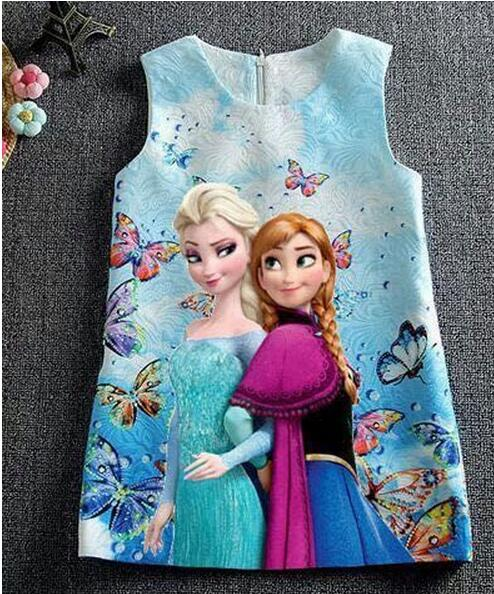 2018 Hot sale Baby Girls Dresses Anna Elsa Quuen Snow Dress Girls - Barneklær