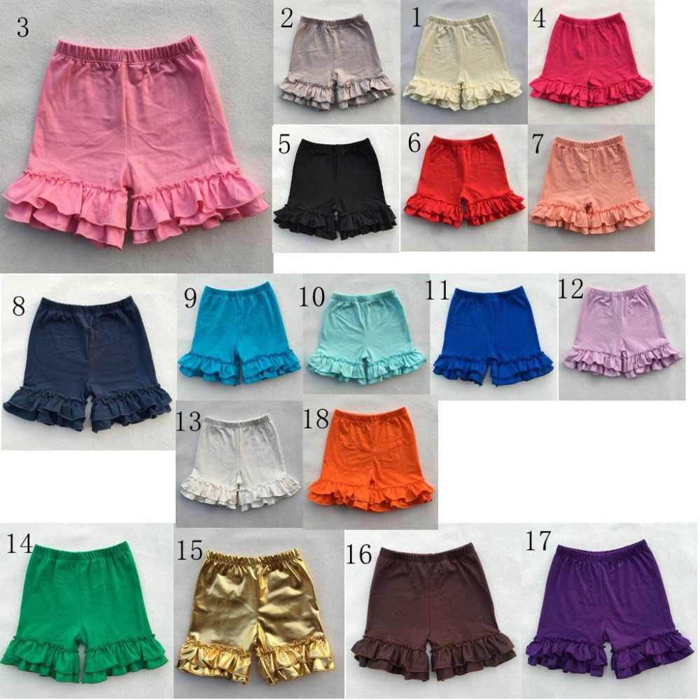 Shorts Cotton Pants Baby Girl Toddler Kid Double Layered Icing Ruffle Bottoms