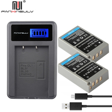 2 x PS-BLS5 BLS-5 BLS5 BLS-50 Battery + Charger for Olympus PEN EPL8 EPL2 EPL3 EPL5 EPL6 7 9 EPM2 EM10 II III Stylus1 S tracked