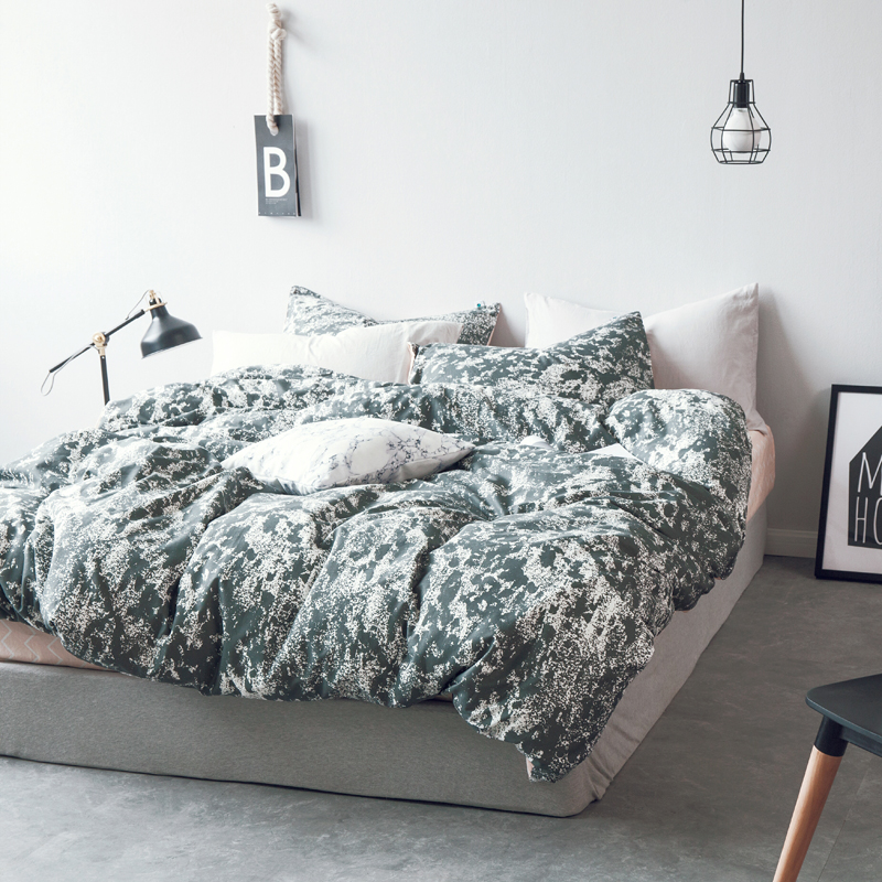 Leopard Print Cotton Bedding Sets Solid comforte Bed Linens Sheet Quilts and Bedding Sets Nordic King Double Adult Duvet Cover