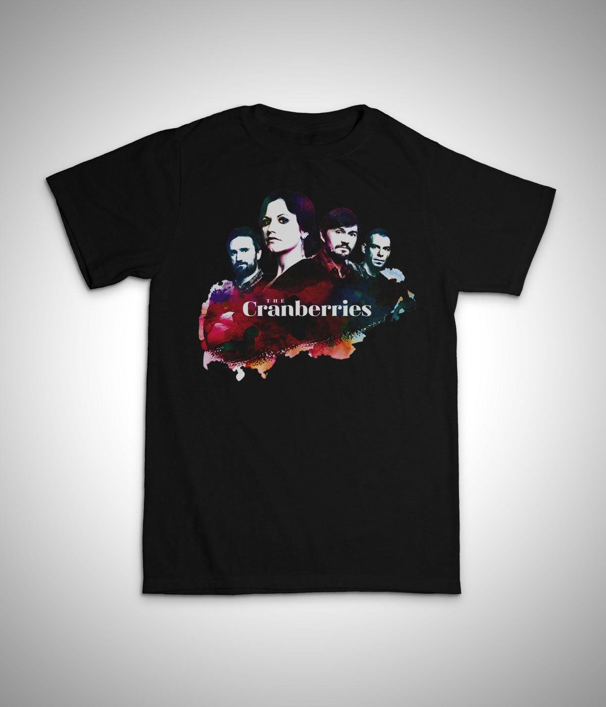 Брусника розы футболка унисекс-Долорес O'Riordan женщин Человек подарков black2018 новый бренд