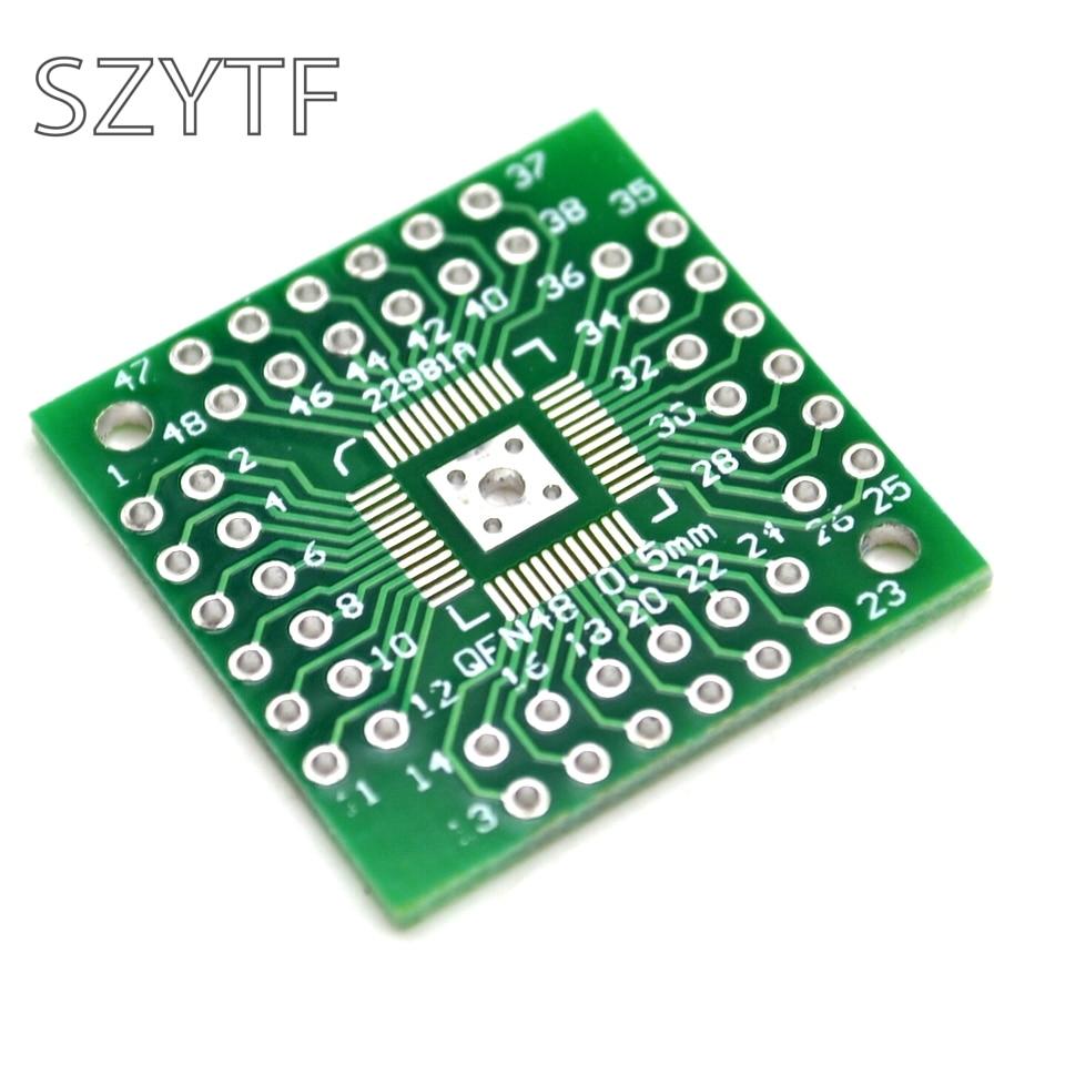 10 pçs/saco 0.5 milímetros QFP44 LQFP48 QFN44 QFN48 turn DIP44 DIP placa Adaptadora