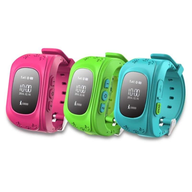 Galleria fotografica Nouveau Q50 Smart watch Bébé Kid Cadeau Montre-Bracelet GSM GPRS GPS Locator Tracker Anti-Perte Smartwatch Six Couleurs Pour IOS et Andriod téléphone