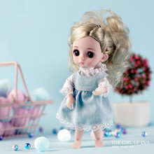 smart girl princess multi-joint Mini toy simulation 3D Doll SF