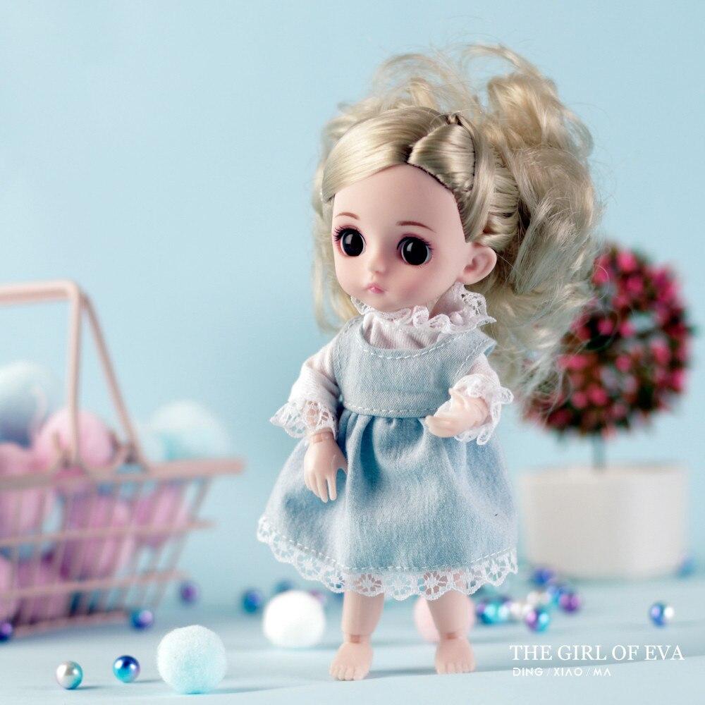 Moda menina da princesa Do Brinquedo Boneca inteligente multi-conjunto de Mini brinquedo simulação 3D Boneca Abraço Corpo Macio Presente Para A Menina brinquedo # g4
