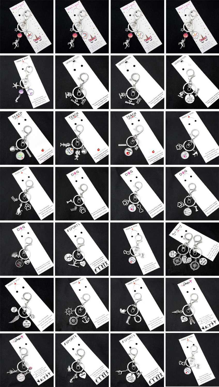Leraar Leren Liefde Inspireren Sleutelhanger Apple Boek Heerser Sleutelhangers Sleutelhanger Sleutelhanger Vrouwen Mannen Mannelijke Unisex Sleutelhanger Sieraden Gift
