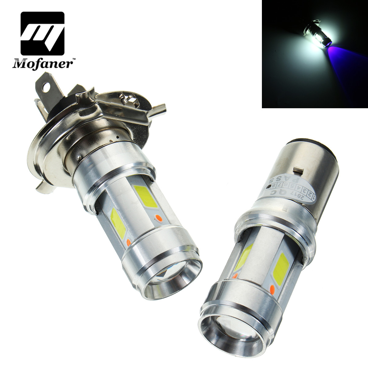 Aluminium Alloy B20D H4 Scooter Motorbike Headlight Bulb 3000LM 18W LED Motorcycle Head Light Bulbs 6500K High-Low Beam Headlamp motorcycle h4 hs1 led headlight bulb h l hi lo high low dual motorbike motocross light kit headlamp scooter atv moto head lamp
