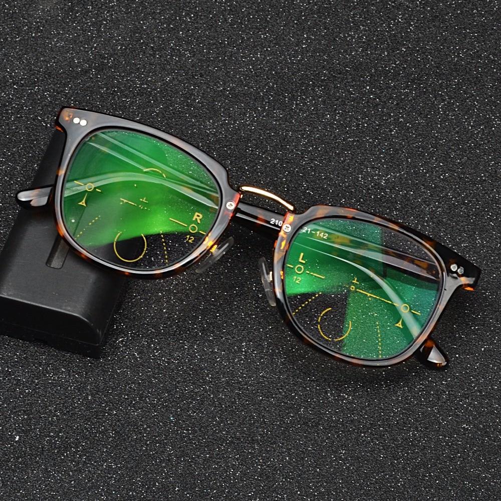 05e557b3f2 Brand Progressive Multifocal Lens Reading Glasses Men Presbyopia Hyperopia  Bifocal Glasses Sun Photochromic eyeglasses FML-in Reading Glasses from  Apparel ...