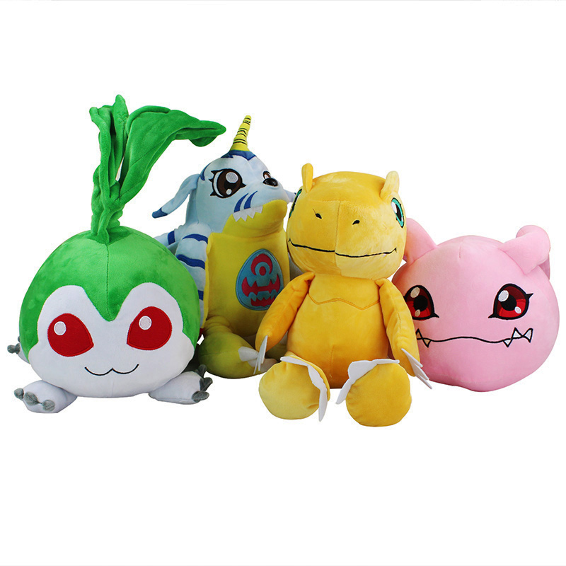 Large Size font b Anime b font Digimon Plush Toy 40 50cm Agumon Gabumon Tanemon Koromon