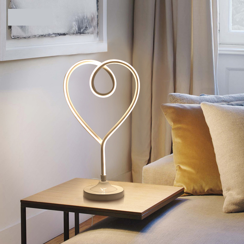 Modern LED Table Lamps For Living Room Home Led Desk Lamp Bedroom Study Reading EU US Plug Acrylic+Hardware Lampshade modern k9 crystal table lamps fashion nordic style living room decoration bedroom beside lamp study reading led desk lamps