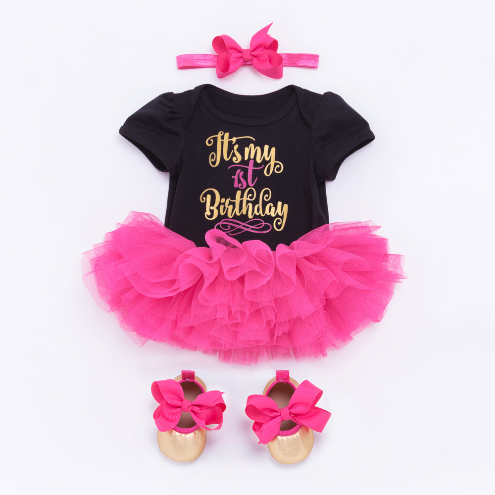 Boutique Baby Girls First 1st Birthday Tutu Skirt Outfit Cake Smash Set 4 Styles