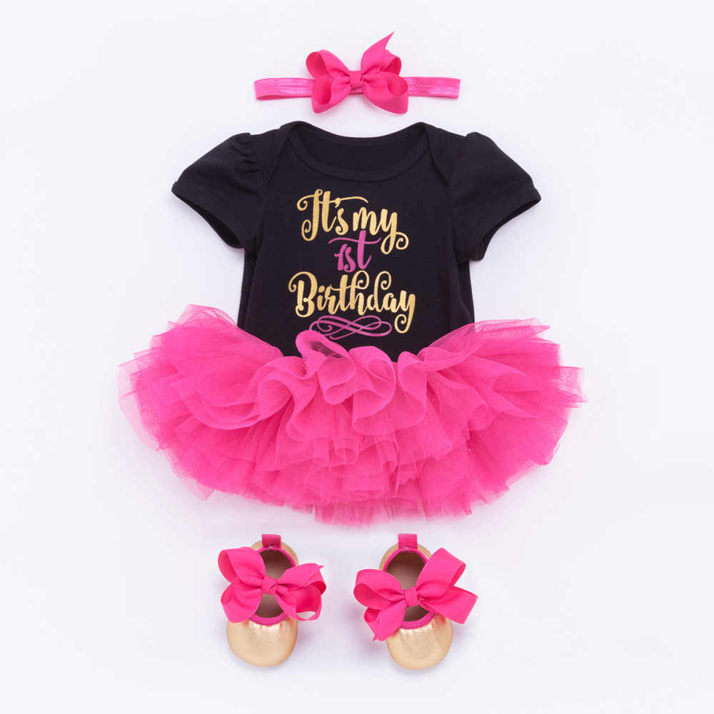 8d7456822bd01 Baby Girl Tutu Dress 1 birthday Girl Princess Dress Two Birthday Cake Smash  Outfits Crown Romper