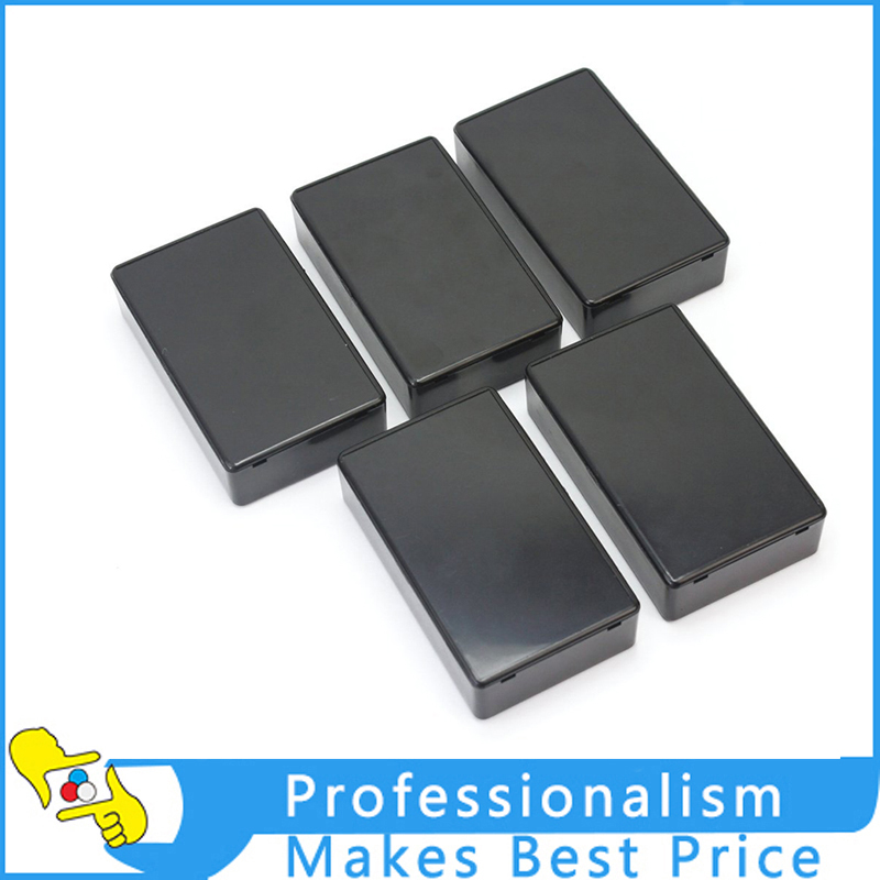 Hot 5 Pcs Black Plastic Electronic Project Box Enclosure Instrument Case 100x60x25mm 4pcs a lot diy plastic enclosure for electronic handheld led junction box abs housing control box waterproof case 238 134 50mm