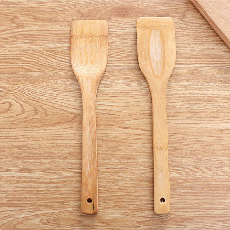 1Pc Natural Health Bamboo Wood Kitchen Slotted Spatula Spoon Mixing Holder Cooking Utensils Dinner Food Wok Shovels Turners in Other Kitchen Specialty Tools from Home Garden