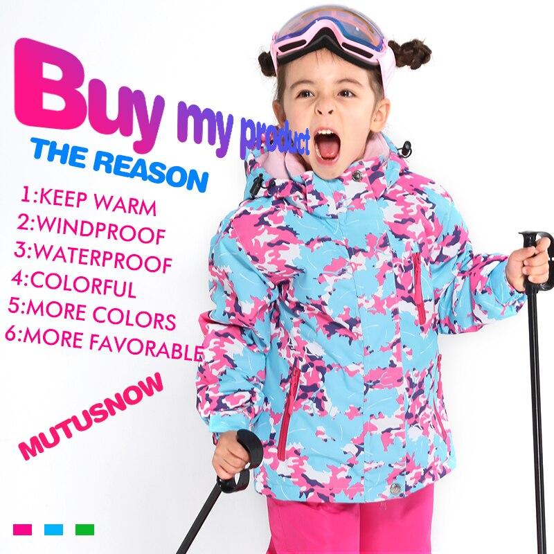 Dernier costume de Ski pour enfants hiver imperméable Super chaud coloré fille et garçon veste de Ski de neige et pantalon neige garçon vestes marques - 2
