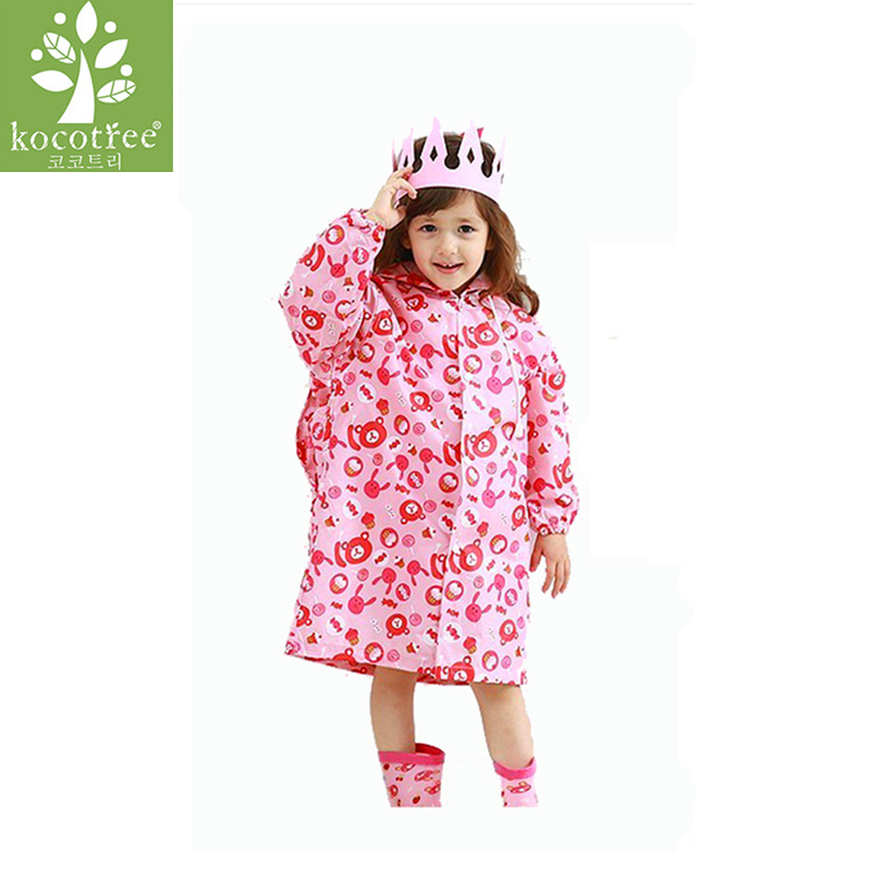 Age 2~6 Years Old Baby Girls Coat Jacket Wind And Rain In Spring And Autumn Cute Candy Bear Print Children Outerwear Raincoat 2018 baby girls red cardigan floral design cute spring coat for children teenage spring clothes age 456789 10 11 12 years old