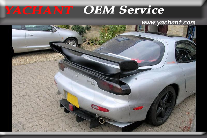 FRP Fiber Auto Glass Wing Fit For Mazda RX7 FD3S 1992-1997 Roof Spoiler