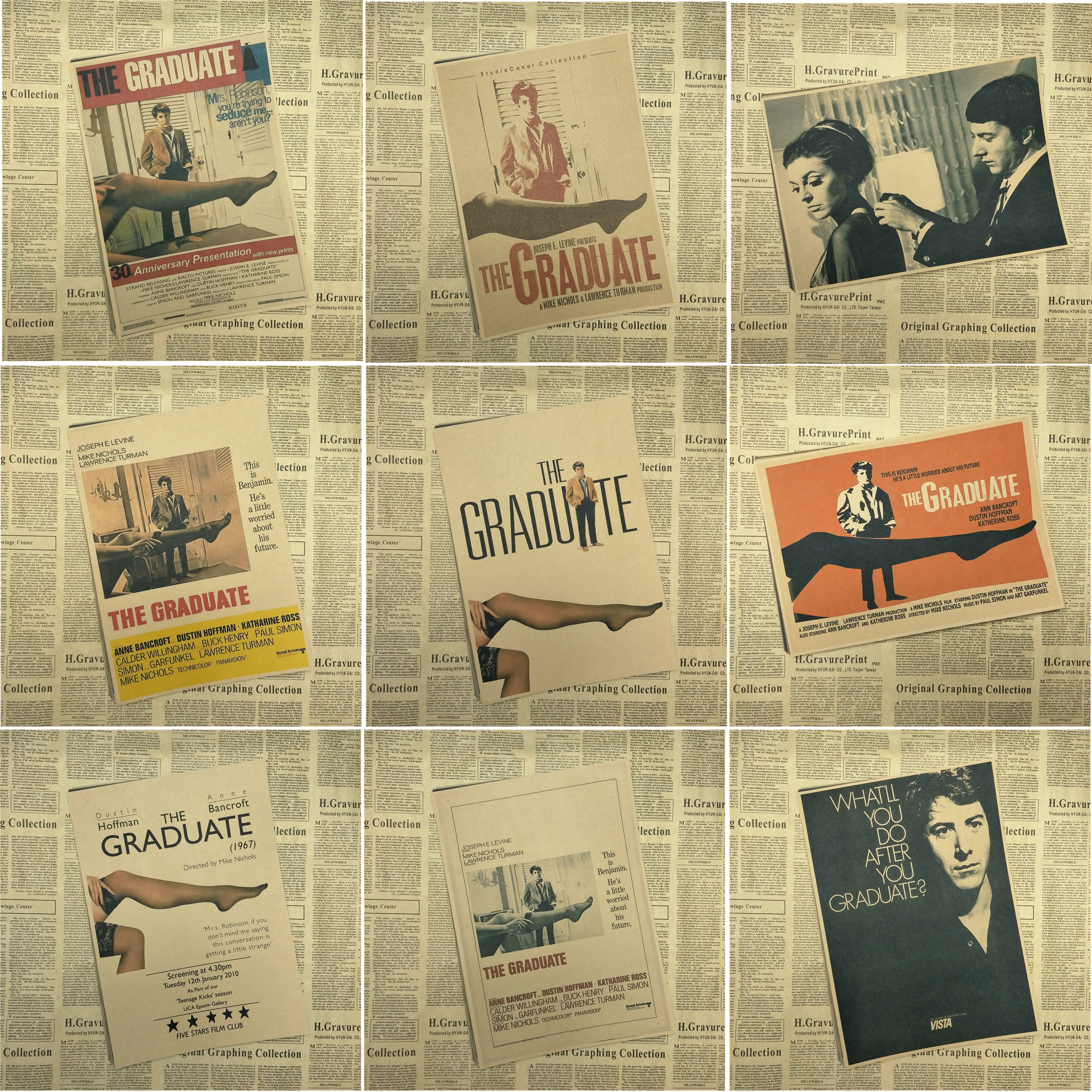 The Graduate Classic old movie poster Home Furnishing decoration ...