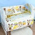 Venta caliente Bebé ropa de Cama Cuna Set Recién Nacido Niño Niños de Cuna Parachoques Conjuntos de Respaldo + Colchón + Bumper + Short Bumper + Almohada
