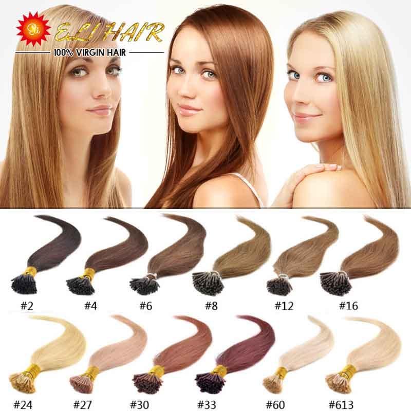 Grade AAAAAAA Keratin Hair Extensions ON Capsules 18inch-24inch 0.5g/S 100% Real Human Hair Extensions Keratin Stick I tip