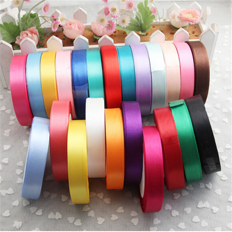 Pretty silk satin ribbon 15mm 25 yards 22m wedding party decoration invitation card gift wrapping christmas