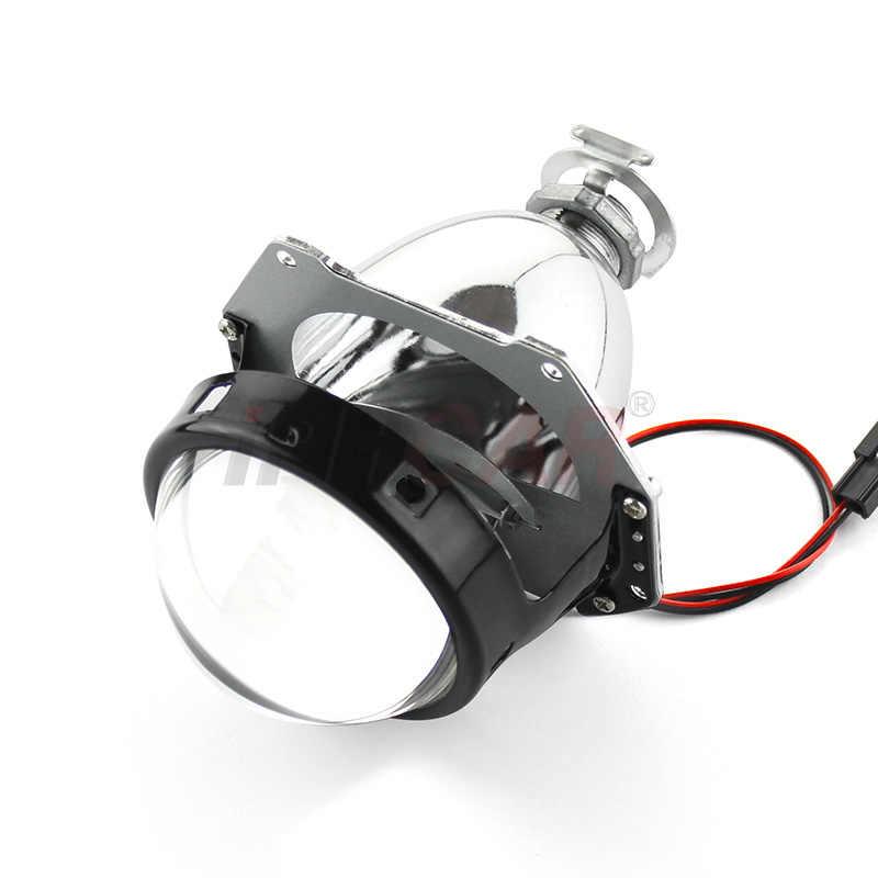 Lentille de projecteur caché au xénon | Iphone LHD/RHD, 1 pièces 3 pouces Bi H1 H4 H7 moto phare de voiture, livraison gratuite