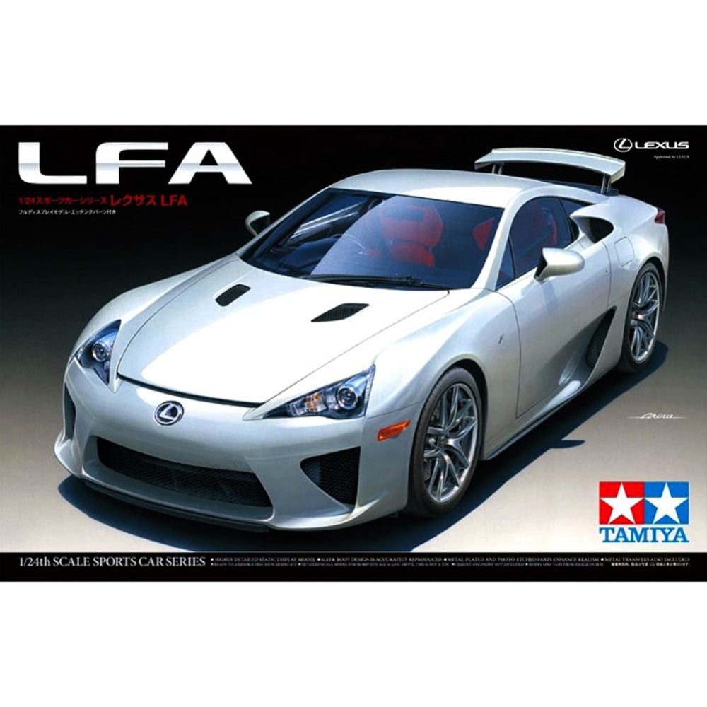 OHS Tamiya 24319 1/24 LFA Scale Assembly Car Model Building Kits ohs tamiya 14101 1 12 desmosedici scale assembly motorcycle model building kits