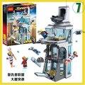 Nueva decool 511 unids 7114 ataque en torre avenger marvel super hero Iron Man Thor Set SY370 Ladrillos Bloques de Construcción de Juguete 76038 regalo