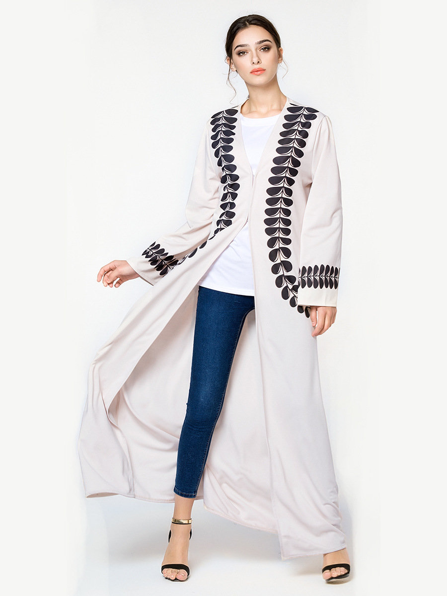 Abaya Cardigan Print Robe