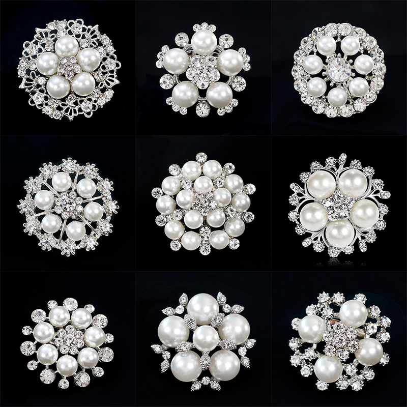 diamante brooches 8 designs to dress up an outfit Eleganza Designer pearl