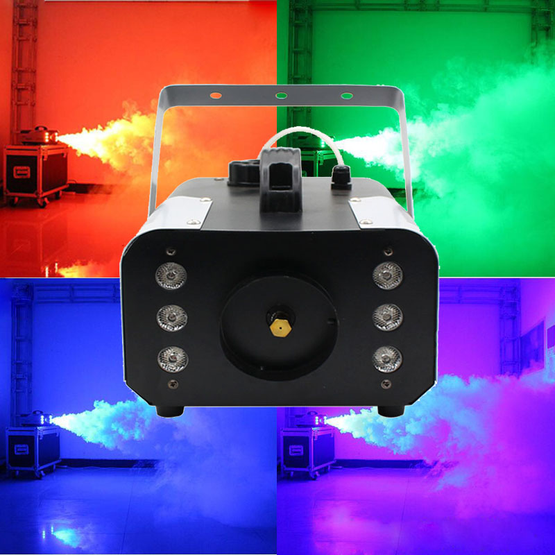 Professional Disco DJ Equipment 900W Smoke Machine Wireless Remote/Wire Control Fog Machine RGB 3in1 For Performance/Party/Show