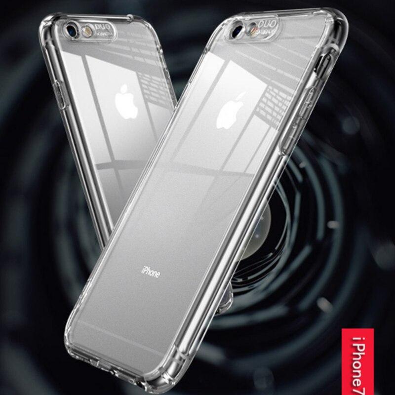 Jelas Shock-Proof TPU Phone Case untuk iPhone X Max XR X 10 7 8 6 S 6 plus 8 Plus Kantong Gas Silikon Lembut Cakupan Penuh Cover