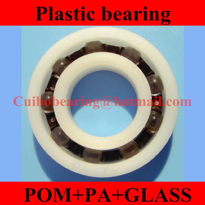 Free Shipping 100PCS 606 POM Plastic bearings 606  PA Glass Balls size:6x17x6mm