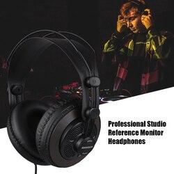 Samson sr850 estúdio referência monitor fones de ouvido dinâmico fone de ouvido semi-aberto design para gravação de monitoramento de jogo de música jogando