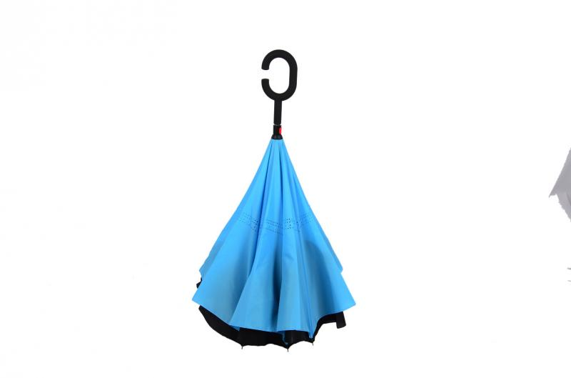 Nouveau parapluie inversé moderne à l'envers, poignée en C, double - Marchandises pour la maison - Photo 1