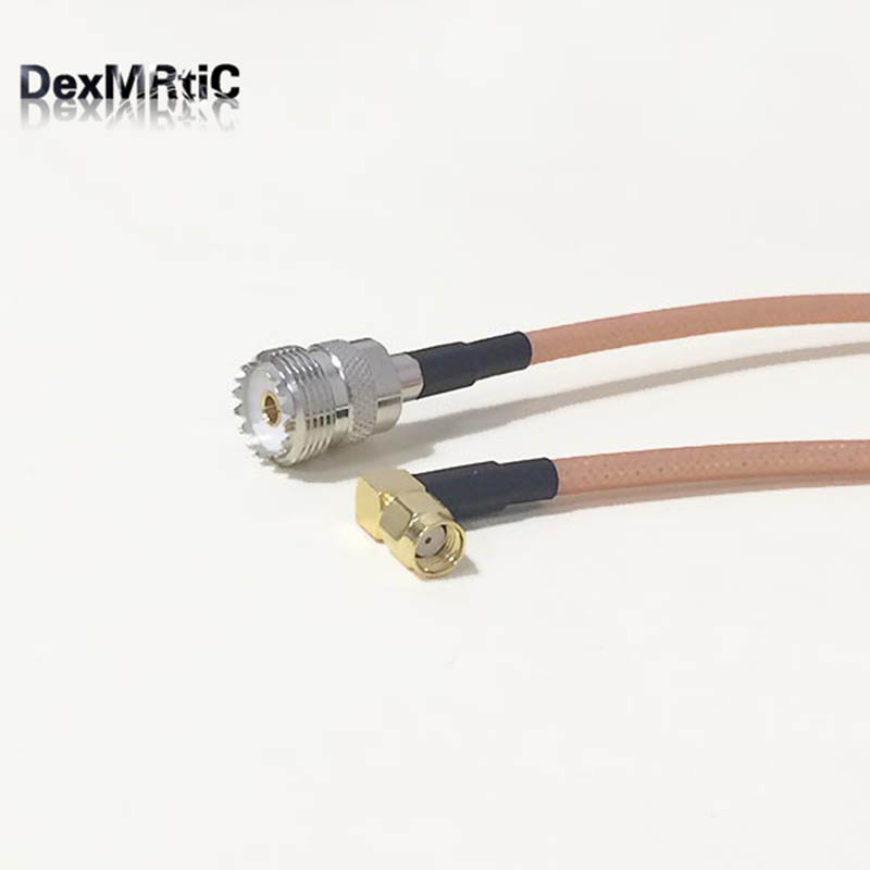 High-quality low-attenuation UHF Female Jack SO239 Switch RP-SMA Right Angle Male Plug pigtail cable RG142 50CM 20 Adapter mb barbell atlet 32 5кг