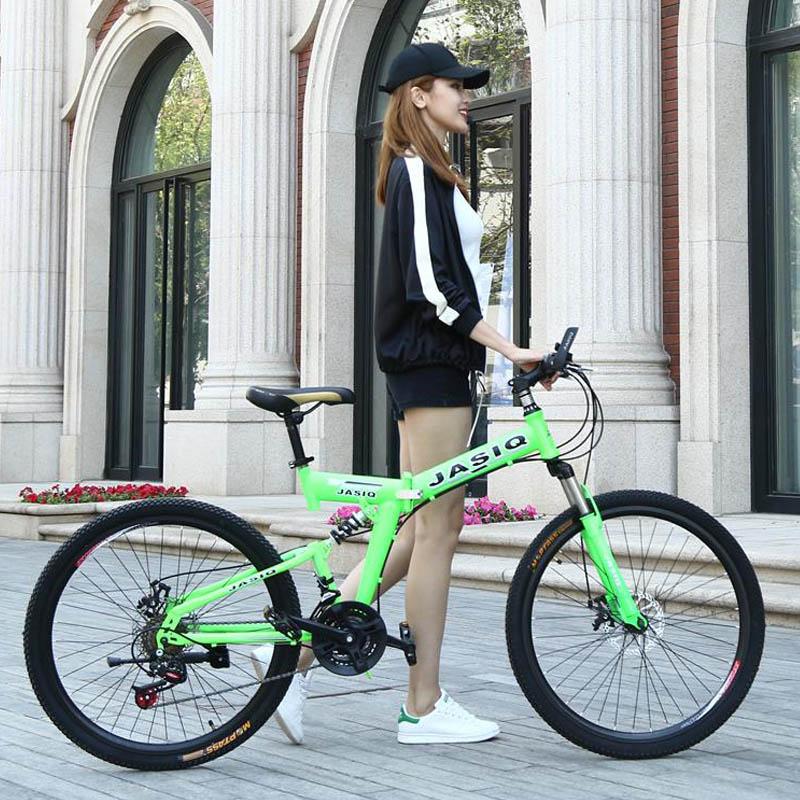 HTB172XsXgvGK1Jjy0Ffq6zykpXa0 26 inch mountain bike 21 speed Folding mountain bicycle double disc brake bike New folding mountain bike Suitable for adults