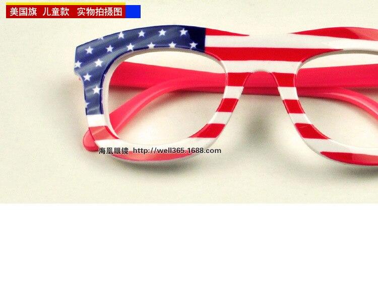 d96658e8f0f5 Brand child eye glasses frames without lens flag print America Canada  England France Australia fashion boy girl eyewear 19 008-in Eyewear Frames  from ...