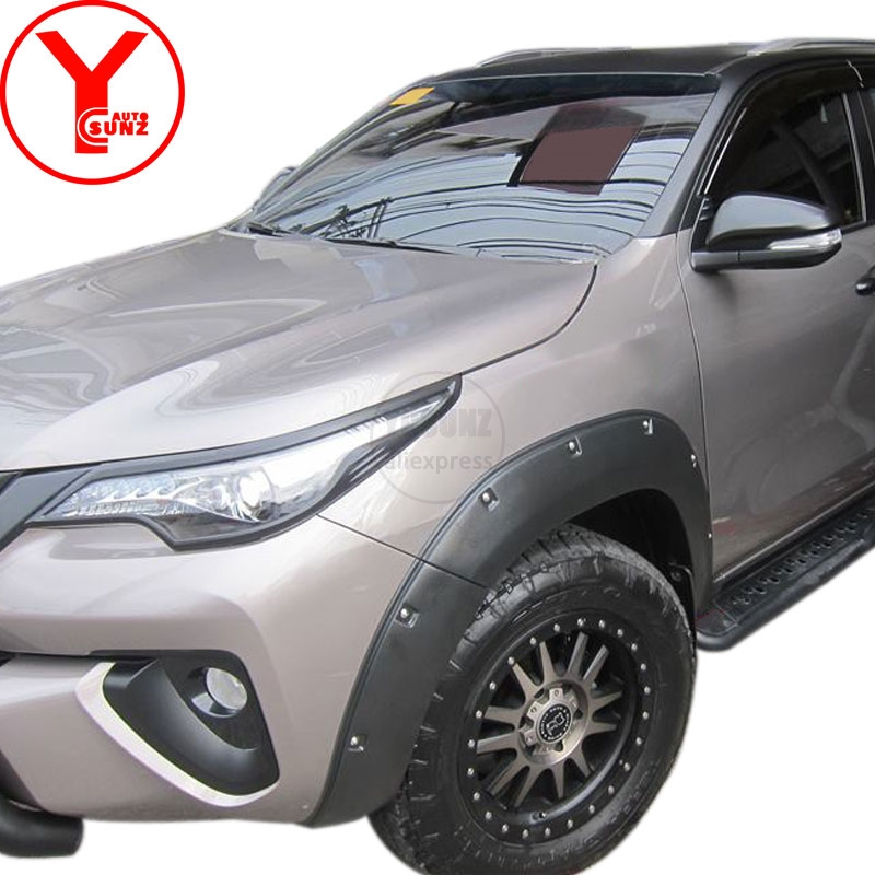 Parts For Cars >> Us 299 6 30 Off Ycsunz Matte Black Fender Flares For Cars Mud Guard Parts Mudguards Accessories For Toyota Fortuner Sw4 2015 2016 2017 2018 2019 In