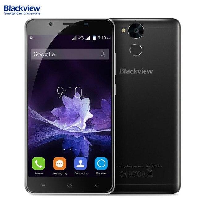 4 Г Blackview P2 64 ГБ/4 ГБ 6000 мАч Батареи Идентификации Отпечатков Пальцев 5.5 ''Android 6.0 MTK6750T Octa Ядро до 1.5 ГГц GPS BT OTG