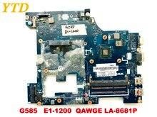 Оригинальный Для lenovo G585 материнская плата для ноутбука G585 E1-1200 QAWGE LA-8681P испытанное хорошее Бесплатная доставка