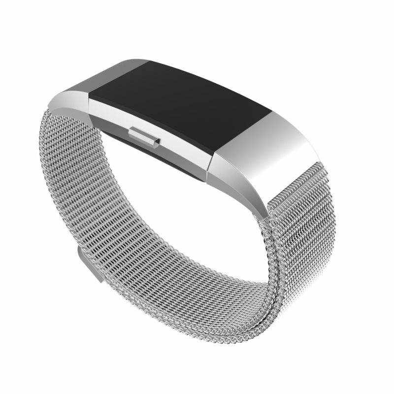 fitbit charge 2 replacement band magnetic milanese loop metal band smart bracelet for fitbit. Black Bedroom Furniture Sets. Home Design Ideas